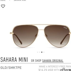 BNWT Quay Sahara Mini Gold GLD/SMKTPE